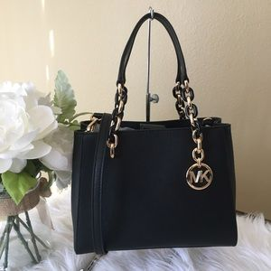 Michael Kors black medium Sofia tote/ crossbody